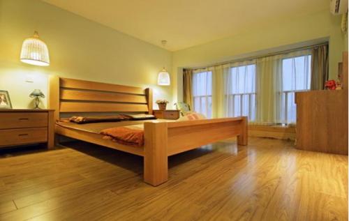 日式loft原木风卧室图片