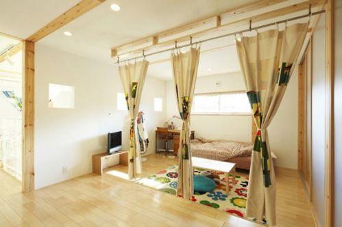 日式风格卧室帷帐图片