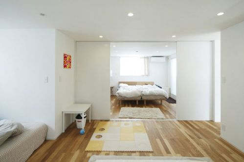 清爽日式风格卧室效果图