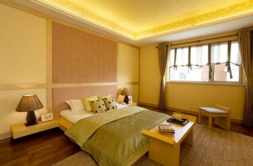 日式样板房卧室效果图
