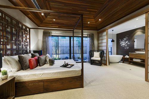 日式温馨三居卧室吊顶图片