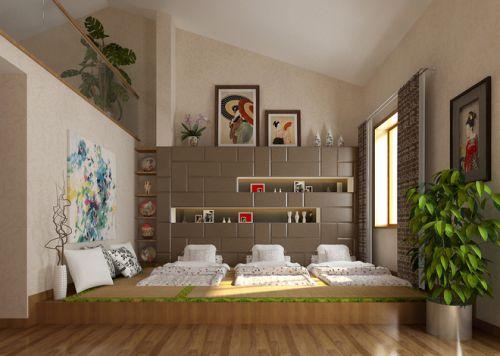 日式榻榻米卧室效果图