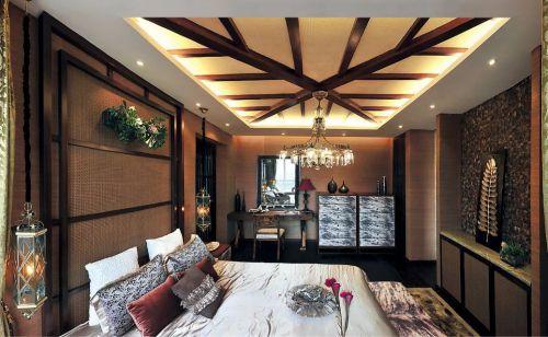 东南亚风格卧室背景墙图片欣赏
