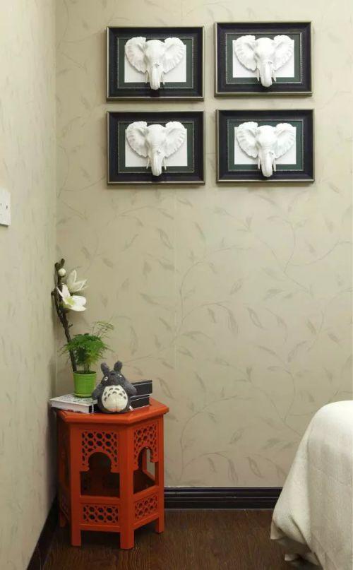 泰式卧室文化墙装饰图片设计
