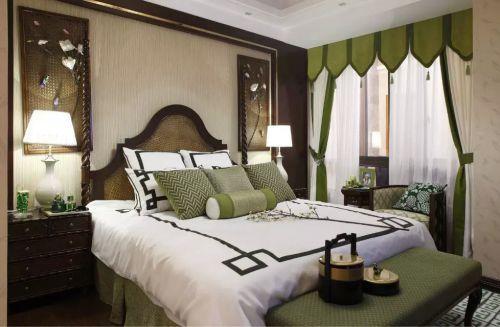 泰式卧室窗帘装修效果图