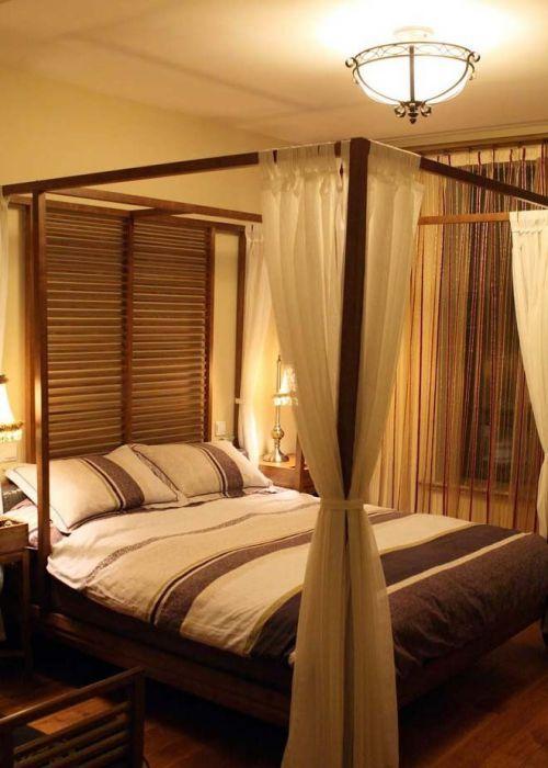 缇香山自然之美—东南亚风情卧室吊顶