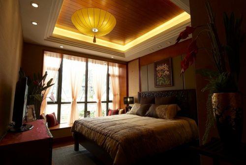 东南亚风格别墅卧室吊顶设计