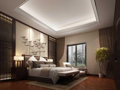 三居室东南亚风格卧室设计