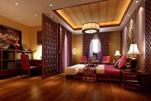 东南亚风格书房卧室隔断装饰