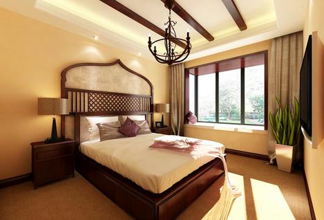 卧室东南亚风格设计效果图