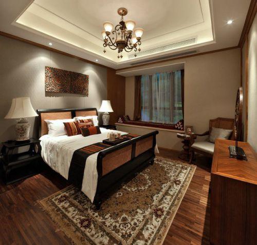 卧室东南亚风格装修吊顶图片