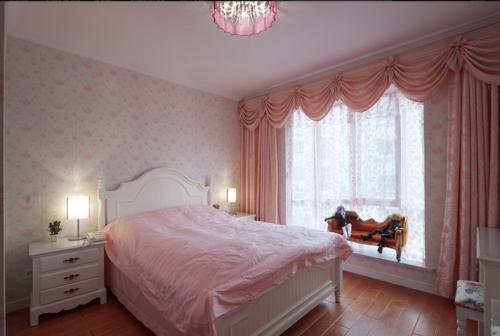 金竹苑三居室卧室飘窗设计图片