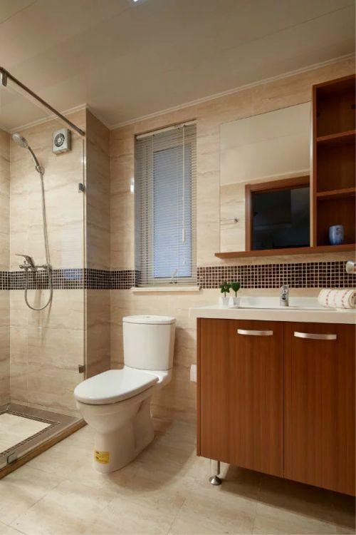 卫生间现代中式收纳柜家装效果图