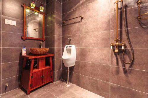 卫生间浴室镜家装地砖效果图