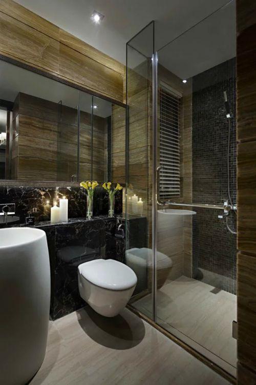 中式卫生间家装浴室镜效果图