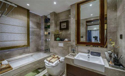 中式卫生间浴室镜装饰图片大全