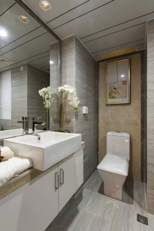 中式卫生间浴室镜家装效果图