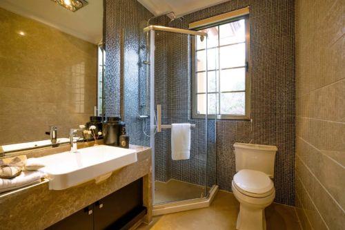中式卫生间浴室镜装修效果图