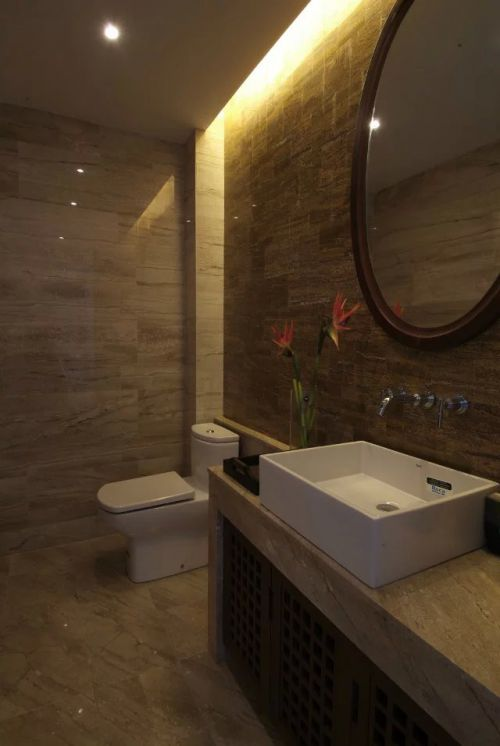 中式卫生间浴室镜家装效果图价格