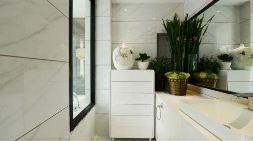 中式卫生间浴室柜水槽家装效果图