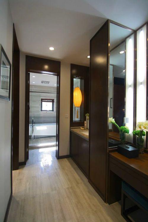 现代中式大别墅卫生间水槽装修效果图