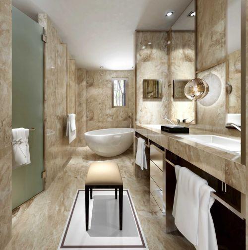 现代中式风格卫生间背景墙装修设计