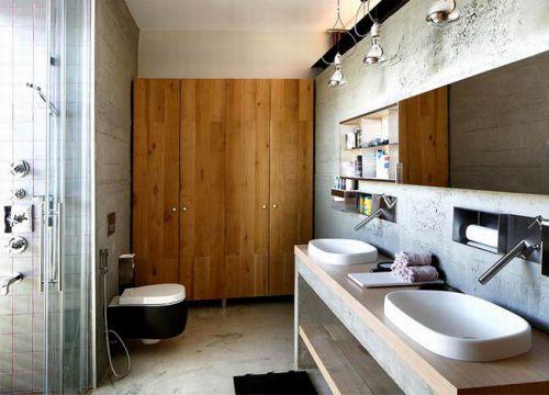 欧式别墅卫生间洗手台设计