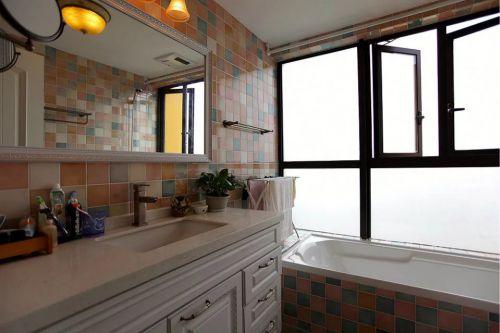 美式风格卫生间浴室柜飘窗设计