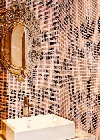 法式田园风卫生间洗手台图片