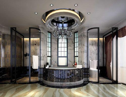 美式风格装修卫生间实图