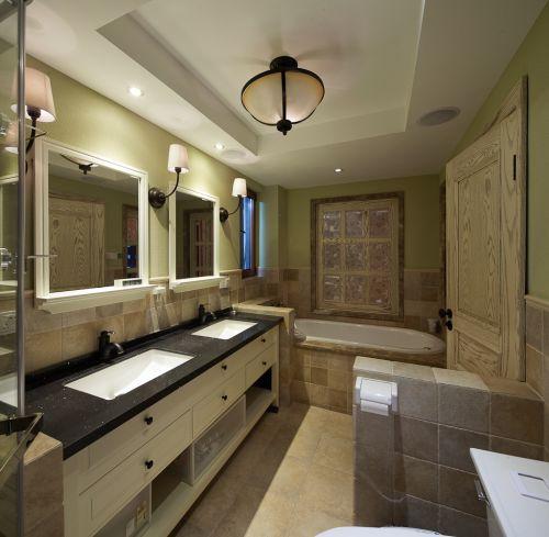 135平米温馨美式风格卫生间隔断设计