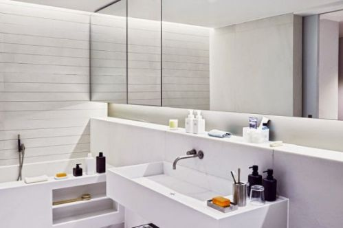 时尚文艺的复式小家卫生间装修效果图