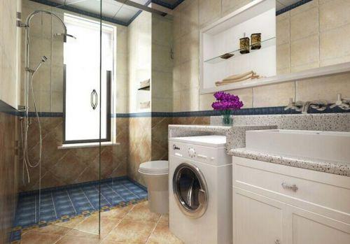 小户型美式田园风格家装设计浴室图片