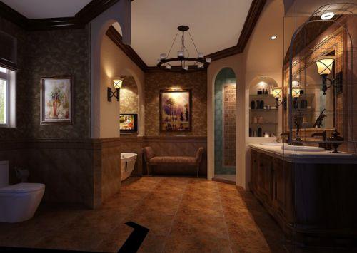 600平米古典混搭别墅卫生间装修效果图