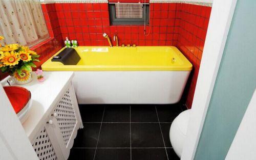欧式田园清新三居室装修浴室图片
