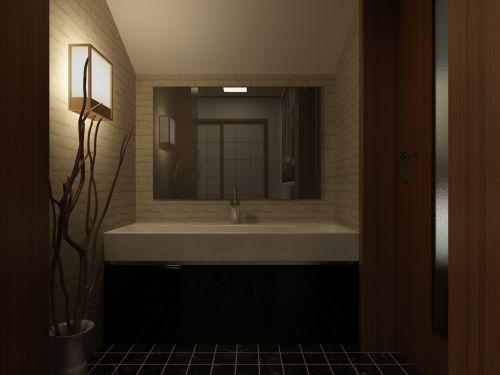 72平米舒适混搭风格小户型卫生间装修效果图