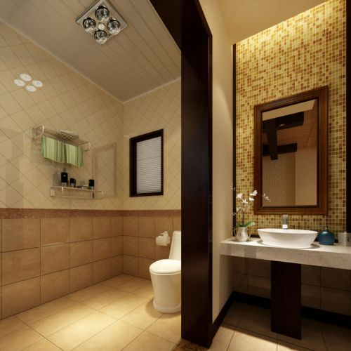 二居室混搭卫生间隔断设计