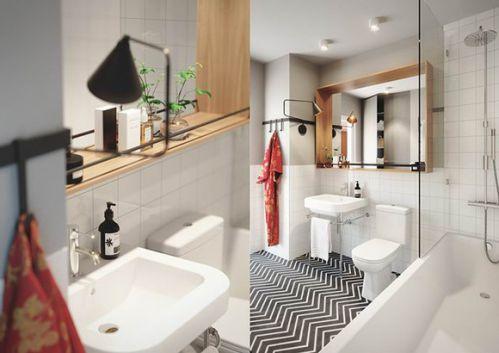 混搭小户型住宅卫生间图片