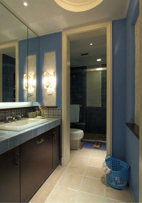 地中海风格卫生间橱柜装修设计效果图