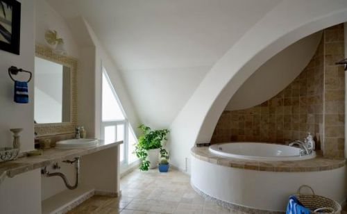 地中海风格卫生间浴缸设计图