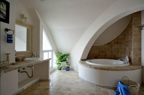 纯美自然住宅卫生间浴缸效果图