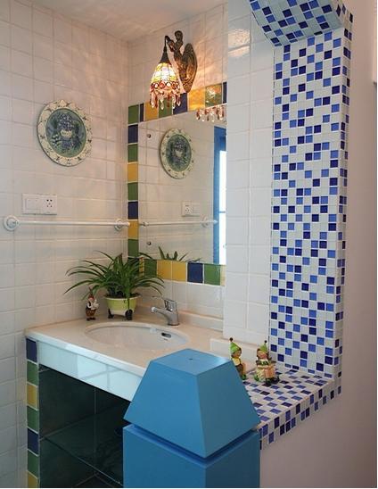 地中海家居卫生间洗手盆图片