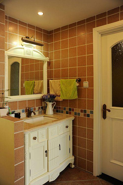 地中海风格卫生间浴室柜图片