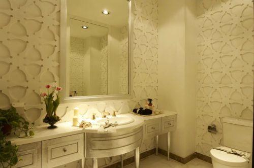 东南亚风格卫生间浴室柜背景墙设计