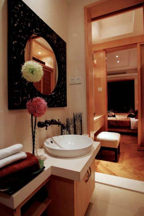 东南亚风格卫生间面盆装饰装修