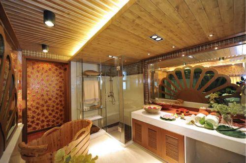 东南亚风格卫生间浴室镜效果图