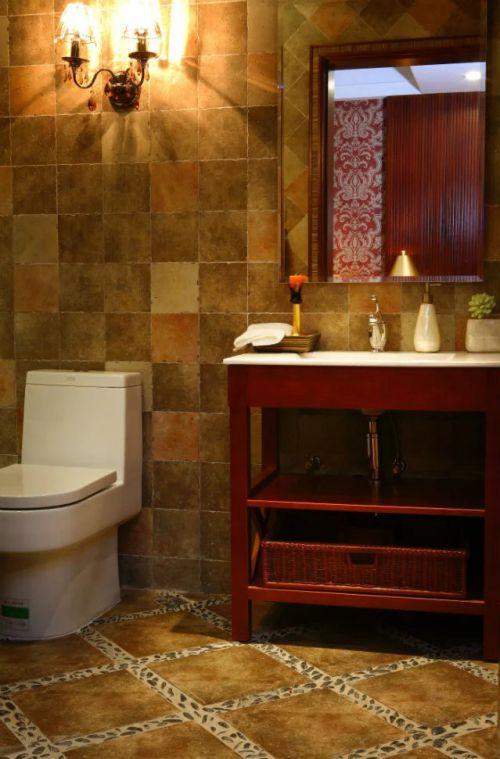东南亚风格卫生间浴室柜装修