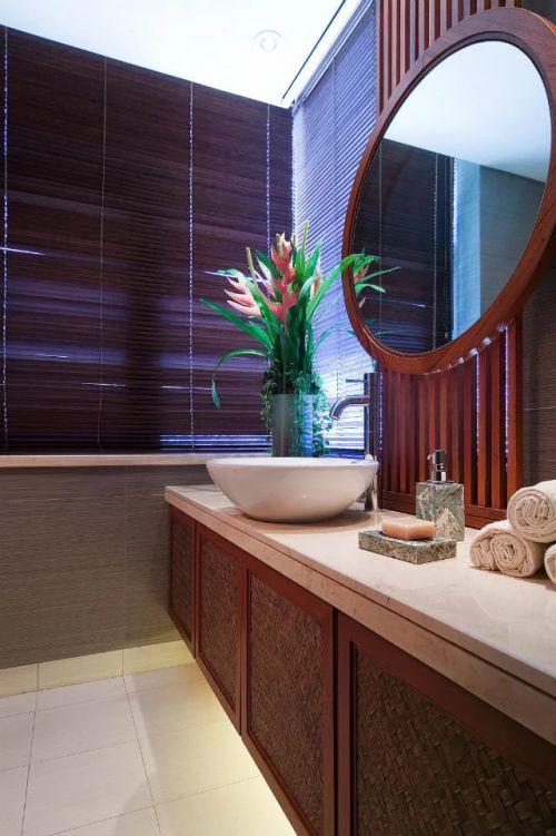 东南亚卫生间浴室镜装饰图片