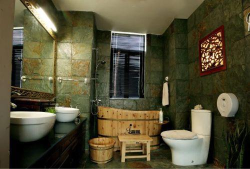 东南亚卫生间浴室柜瓷砖效果图
