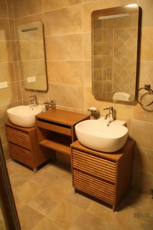 东南亚风格卫生间浴室柜效果图